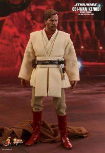Hot Toys de OBI WAN Kenobi Star Wars Episodio 3 La Venganza de los Sith - Figuras de acción y muñecos de Obi Wan Kenobi de Star Wars