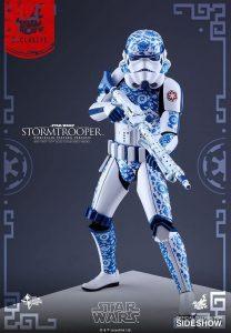 Hot Toys de Stormtrooper de Star Wars de Oficial de Porcelain Pattern - Figuras de acción y muñecos de Stormtroopers de Star Wars
