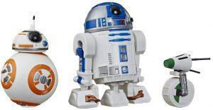 Pack de droides BB-8, D-O y R2-D2 - Figuras de acción y muñecos de BB-8 de Star Wars