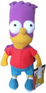 Peluche de Bartman de los Simpsons - Muñecos de Bart Simpson de los Simpsons - Peluches de los Simpsons