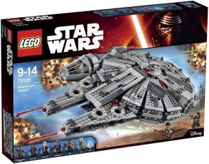 El Halcón Milenario de LEGO Star Wars - Juguete de construcción de LEGO del Halcón Milenario 75105