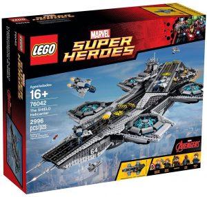 Helitransporte de Shield de LEGO Marvel Super Heroes 76042 - Juguete de construcción de LEGO de Marvel del Helitransporte de Shield