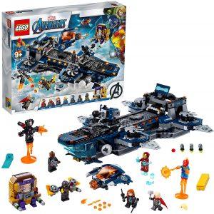 Helitransporte de Shield de LEGO Marvel Super Heroes 76153 - Juguete de construcción de LEGO de Marvel del Helitransporte de Shield