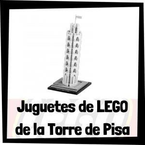 Juguetes de LEGO de la Torre de Pisa