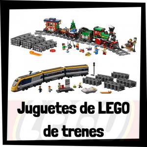 Juguetes de LEGO de trenes