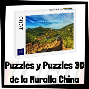 Los mejores puzzles y puzzles en 3D de la Muralla China