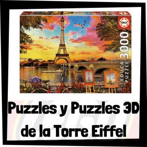 Los mejores puzzles y puzzles en 3D de la Torre Eiffel de París
