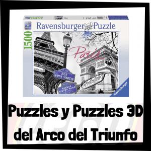 Los mejores puzzles y puzzles en 3D del Arco del Triunfo