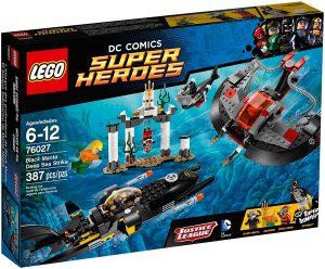 Sets de LEGO de Aquaman - Juguete de construcción de LEGO de Aquaman de DC de Ataque en las profundidades de Black Manta 76027