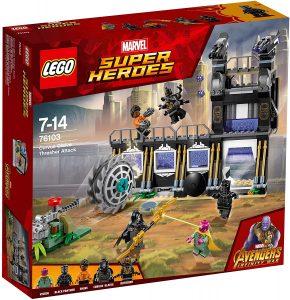 Sets de LEGO de Black Panther - Pantera Negra - Juguete de construcción de LEGO de Ataque de la desgranadora de Corvus Glaive 76103
