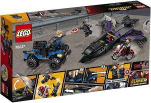 Sets de LEGO de Black Panther - Pantera Negra - Juguete de construcción de LEGO de Persecución de Black Panther 76047