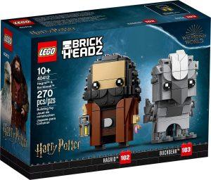 Sets de LEGO de Harry Potter - Juguete de construcción de LEGO de Brickheadz de Hagrid y Buckbeak 40412