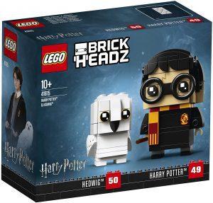 Sets de LEGO de Harry Potter - Juguete de construcción de LEGO de Brickheadz de Harry Potter y Hedwig 41615