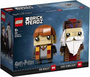 Sets de LEGO de Harry Potter - Juguete de construcción de LEGO de Brickheadz de Ron Weasley y Albus Dumbledore 41621
