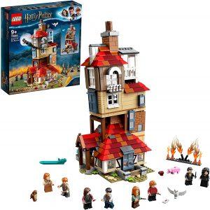 Sets de LEGO de Harry Potter - Juguete de construcción de LEGO de Harry Potter 75980 Ataque a la Madriguera