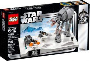 Sets de LEGO de Hoth de Star Wars - Juguete de construcción de LEGO de Batalla de Hoth 40333 20 Aniversario