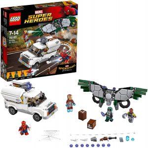 Sets de LEGO de Iron Man - Juguete de construcción de LEGO de Iron Man y Spider-man vs Vulture y Shocker 76083