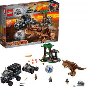 Sets de LEGO de Jurassic World - Juguete de construcción de LEGO de Jurassic World 75929 Huida del Carnotaurus en la girosfera