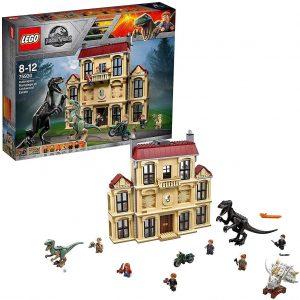 Sets de LEGO de Jurassic World - Juguete de construcción de LEGO de Jurassic World 75930 Caos del Indorraptor en la Mansión Lockwood
