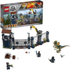 Sets de LEGO de Jurassic World - Juguete de construcción de LEGO de Jurassic World 75931 Ataque del Dilofosaurio al Puesto de Vigilancia