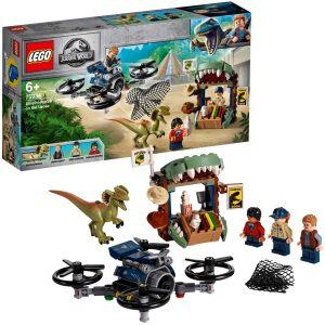 Sets de LEGO de Jurassic World - Juguete de construcción de LEGO de Jurassic World 75934 Dilofosaurio a la Fuga