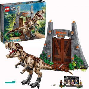 Sets de LEGO de Jurassic World - Juguete de construcción de LEGO de Jurassic World 75936 Caos del T. rex