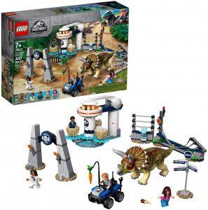 Sets de LEGO de Jurassic World - Juguete de construcción de LEGO de Jurassic World 75937 Caos del Triceratops