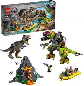 Sets de LEGO de Jurassic World - Juguete de construcción de LEGO de Jurassic World 75938 T. Rex vs. Dinosaurio Robótico