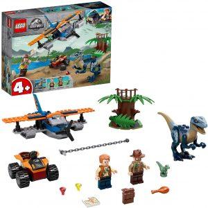 Sets de LEGO de Jurassic World - Juguete de construcción de LEGO de Jurassic World 75942 Velocirraptor Misión Rescate