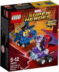 Sets de LEGO de Lobezno - Juguete de construcción de LEGO de Mighty Micros de Lobezno vs Magneto 76073
