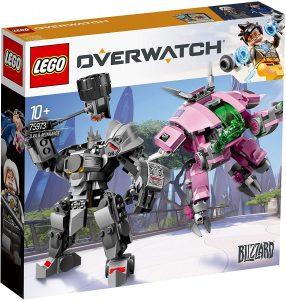 Sets de LEGO de Overwatch de Blizzard - Juguete de construcción de LEGO de D.Va y Reinhardt 75973 de Overwatch