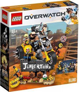 Sets de LEGO de Overwatch de Blizzard - Juguete de construcción de LEGO de Junkrat y Roadhog 75977 de Overwatch
