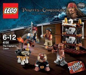 Sets de LEGO de Piratas del Caribe - Juguete de construcción de LEGO de Piratas del Caribe 4191 El Camarote del Capitán