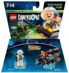 Sets de LEGO de Regreso al Futuro - Back to the Future - Juguete de construcción de LEGO Dimensions 71230 de Doc Brown y Tren de viajes en el tiempo