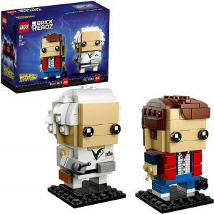 Sets de LEGO de Regreso al Futuro - Back to the Future - Juguete de construcción de LEGO de Doc Brown y Marty Mcfly 41611 de LEGO BrickHeadz