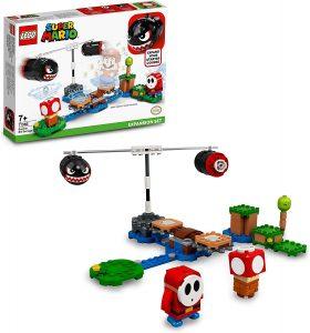 Sets de LEGO de Super Mario Bros - Juguete de construcción de LEGO de Super Mario de Avalancha de Bill Balazos de 71366 - Set de Expansión de Super Mario