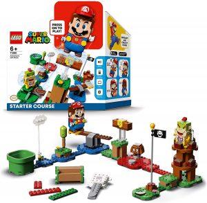 Sets de LEGO de Super Mario Bros - Juguete de construcción de LEGO de Super Mario de Aventuras con Mario 71360 - Pack Inicial de LEGO de Super Mario
