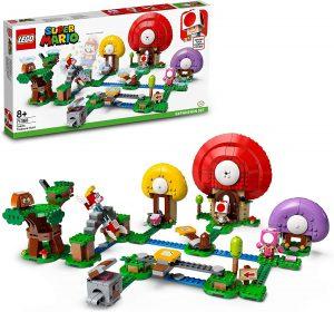 Sets de LEGO de Super Mario Bros - Juguete de construcción de LEGO de Super Mario de Caza del Tesoro de Toad de 71368 - Set de Expansión de Super Mario