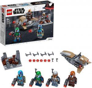 Sets de LEGO de The Mandalorian de Star Wars - Juguete de construcción de LEGO de The Mandalorian de 4 Mandalorianos 75267
