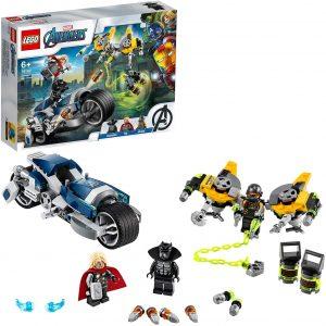 Sets de LEGO de Thor - Juguete de construcción de LEGO de Ataque en Moto 76142
