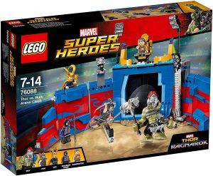Sets de LEGO de Thor - Juguete de construcción de LEGO de Lucha por la Libertad en la Arena con Hulk y Thor 76088