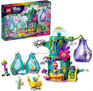 Sets de LEGO de Trolls - Juguete de construcción de LEGO de Fiesta en Pop Village 41256 de Trolls World Tour