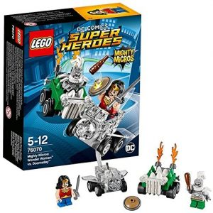 Sets de LEGO de Wonder Woman - Juguete de construcción de LEGO de Wonder Woman vs Doomsday de Mighty Micros 76070 de DC