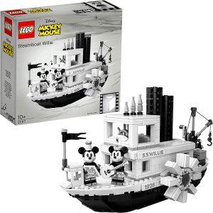 Sets de LEGO de barcos - Juguete de construcción de LEGO Barco de Mickey Mouse 21317