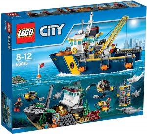 Sets de LEGO de barcos - Juguete de construcción de LEGO Buque de exploración submarina, Multicolor 60095