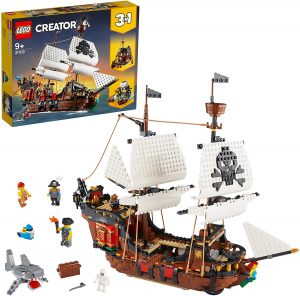 Sets de LEGO de barcos - Juguete de construcción de LEGO Creator 3 en 1 de Barco Pirata 31109
