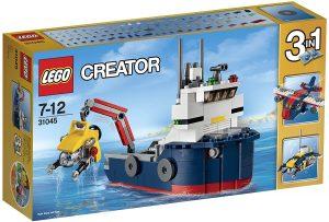 Sets de LEGO de barcos - Juguete de construcción de LEGO Creator 3 en 1 de Explorador Oceánico 31045