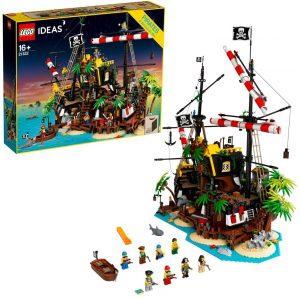 Sets de LEGO de barcos - Juguete de construcción de LEGO Ideas Piratas de Bahía Barracuda 21322