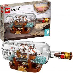 Sets de LEGO de barcos - Juguete de construcción de LEGO de Barco en una botella 21313