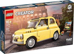 Sets de LEGO de coches - Juguete de construcción de LEGO Creator de Fiat 500 Amarillo 10271 de LEGO